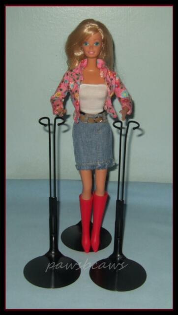 """Set of 2 BLACK Kaiser Doll Stands For 11"""" to 13"""" Fashion Royalty Misaki & BARBIE"""