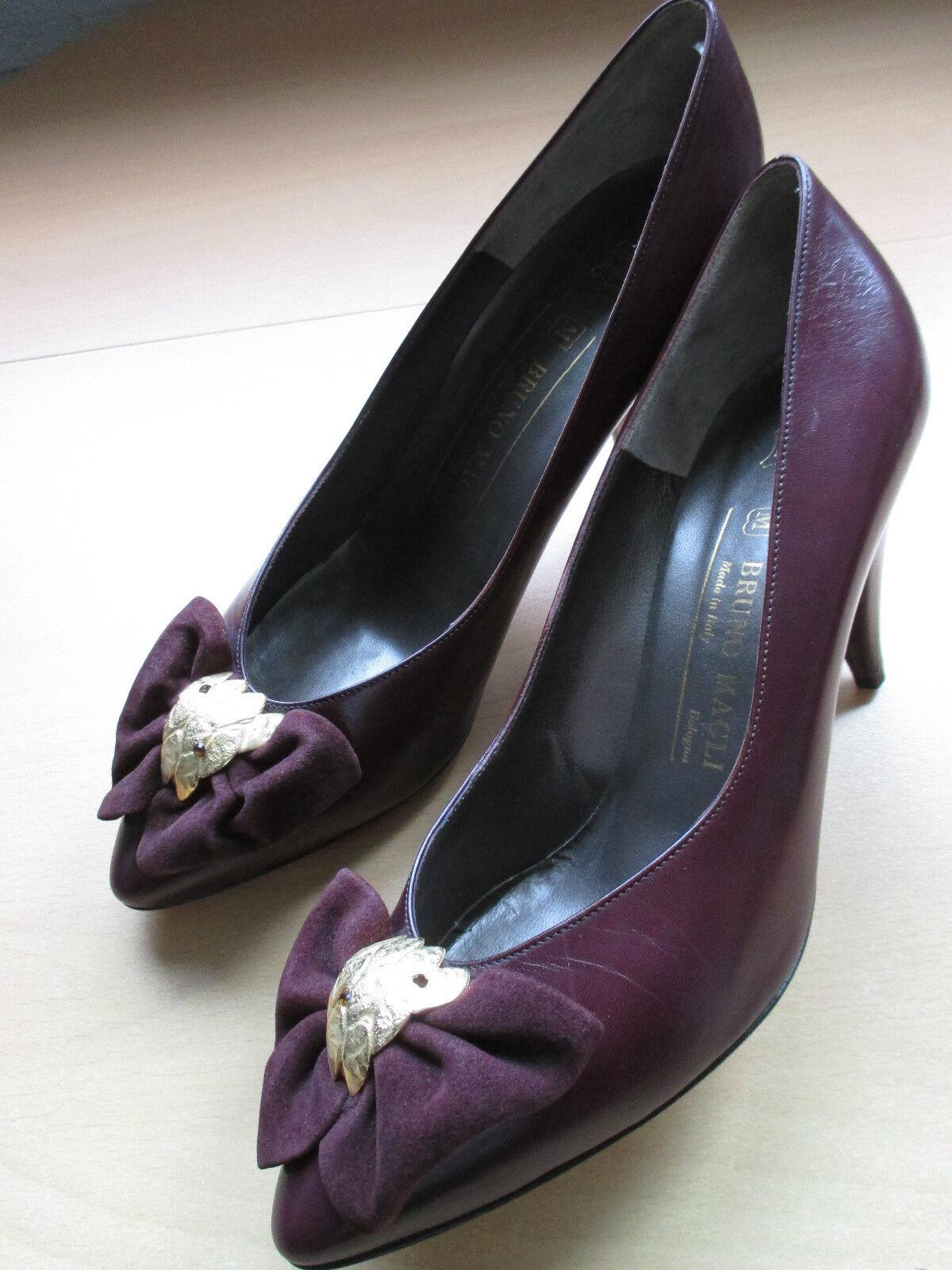 NEU BRUNO MAGLI Damen Schuhe Pumps Gr.38 lilaton aubergine /A