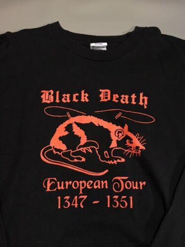 Vintage Black Death European Tour T Shirt Long Sle