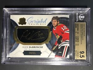2017-18-The-Cup-Alex-DeBrincat-Scripted-Swatches-Rookie-35-BGS-9-5-10-Auto