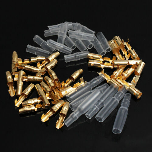 50set 3.9mm Motorcycle Brass Bullet Connector Terminals Plug /& Socket Cover
