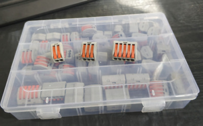 60x 2//3//5 Loch Anschlussleiter Klemmenblock Elektrischer Kabelstecker Draht PCT