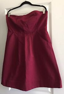 The-Limited-Outback-Red-A-Line-Tube-Dress-Sz-16
