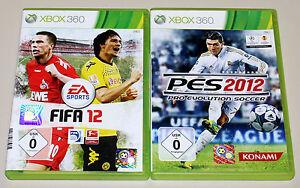 2 XBOX 360 SPIELE BUNDLE - PES & FIFA 2012 - FUSSBALL PRO EVOLUTION SOCCER 2015