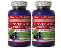 Male Enlargement - Resveratrol Supreme 1200 Pure - Weight Loss Pills 2 Bottles
