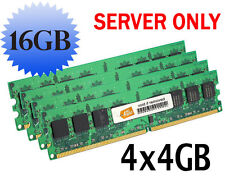 Server RAM 16GB 4x 4GB PC2-3200R ECC Registered DDR2 Memory LOT FITS Dell HP IBM