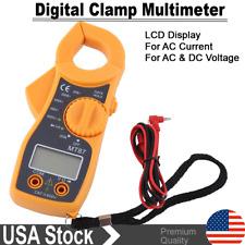 Digital Led Clamp Meter Tester Ac Volt Amp Multimeter Current Resistance Tester