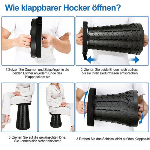Tragbarer Klappstuhl Bistrostuhl Klapphocker Trittbank Hocker Trittstufe