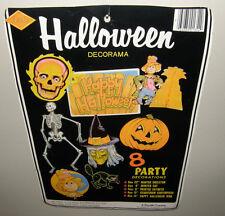 Vtg. BEISTLE Halloween Paper Die Cut Comb Decorations Decorama Lot 7 Pc Ephemera