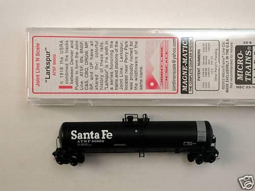 MTL S Micro-Trains Spec Run ATSF  tank car