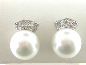14Kt-White-Gold-1-3ct-Diamond-and-11mm-South-Sea-Pearl-Earrings
