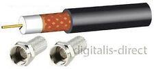 Satellite TV Coaxial Cable 5m Webro WF100 +2 F's CT100