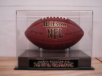 Football Display Case With An Aaron Rodgers Green Bay Packers Engraved Nameplate
