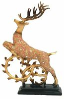 Grand Reindeer Figurine Home Decor Christmas Animal Antlers Tabletop Desk Shelf