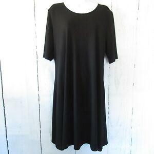 New-H-By-Halston-Dress-L-Large-Black-Elbow-Sleeve-Keyhole-Back-QVC