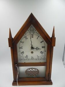 8 Day Mantel Clock Chalet France Three Mountaineers 1960s Vintage Ebay