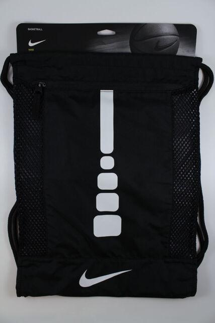 Buy Nike Hoops Elite Gymsack Basketball Sport Bag Black White Ba5342 ... 3a9d2d975