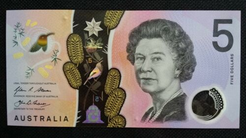 AUSTRALIA $5 Dollars 2016 Next Generation Stevens//Fraser UNC Banknote