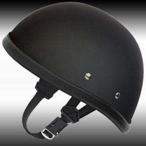 Eagle-Novelty-Flat-Black-Motorcycle-Half-Helmet-Cruiser-Biker-S-M-L-XL-XXL