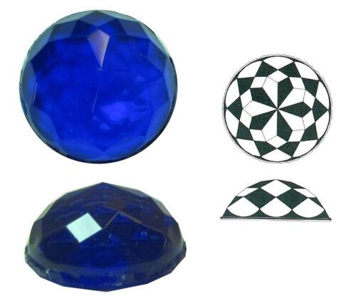 h ca Rautenstein aus Glas Ränder geschert Ø ca 36 mm 15 mm 1 Stk.