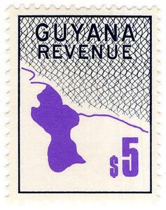 IB British Guiana Guyana Revenue  Duty Stamp 5 - Royal Tunbridge Wells, United Kingdom - IB British Guiana Guyana Revenue  Duty Stamp 5 - Royal Tunbridge Wells, United Kingdom