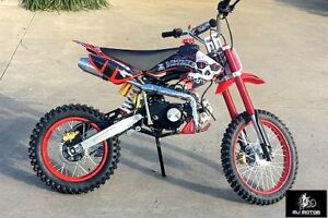 BIGFOOT-125CC-PIT-MOTOR-DIRT-BIKE-TRAIL-MOTOCROSS-PRO-KICK-START-14-17-BIG-WHEEL