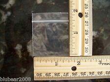 "50 1.5 ""x1.5 "" ZIPLOCK BAGS Clear 2MIL Small POLY BAG RECLOSABLE Plastic Baggies"