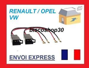 2-Cables-adaptateurs-haut-parleur-Opel-Renault-Seat-Skoda-Suzuki-Vol