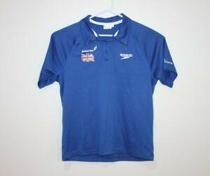Team-British-Swimming-Speedo-GBR-Size-Men-039-s-Large-Polo-Shirt
