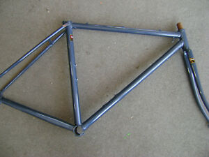 New-NOS-48-5cm-Tange-2-double-butted-CroMoly-road-bicycle-lugged-frame-amp-fork
