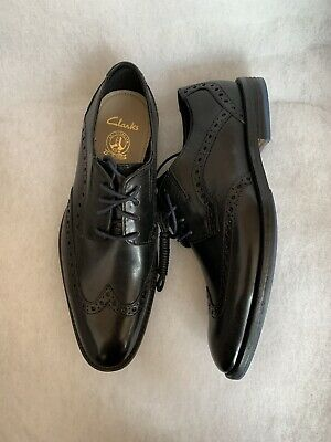 BOYS CLARKS LOXHAM DERBY YOUTH LACE UP SENIOR SMART FORMAL SCHOOL SHOES SIZE