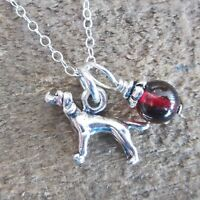 Pointer Glass Bead Sterling Silver Necklace - Free Shipping