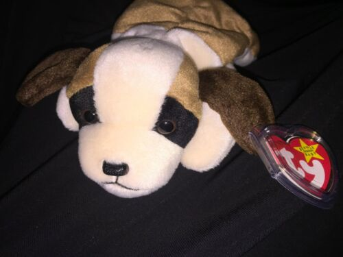 All-Collectors-RARE-TY-Beanie-Babies-034-BERNIE-034-Dog-ERROR-PVC-China-Canada-TAG