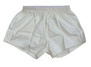 Vintage-Ex-Army-Shorts-NEW-white-vintage-1980s-cream-PT-hot-pants-retro-sports