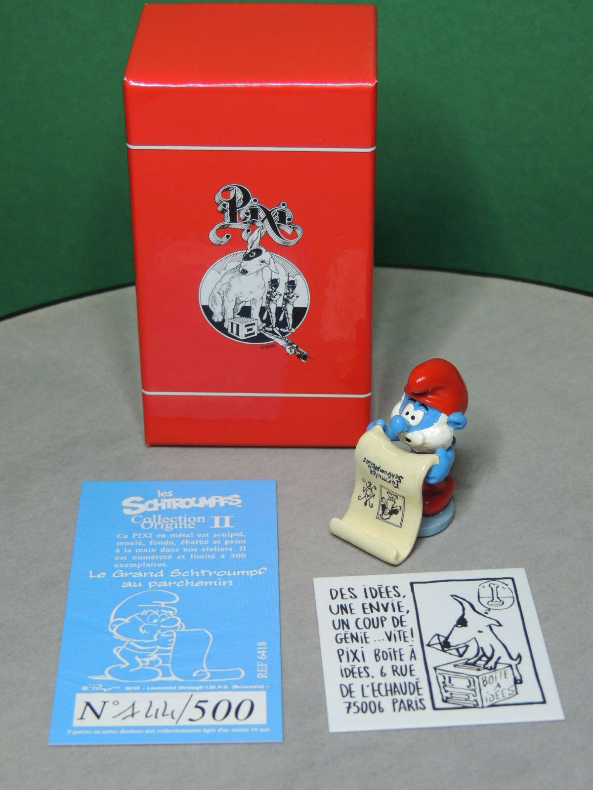 6418 Grand Schtroumpf au parchemin - PIXI Figurine Collection Origine serie II