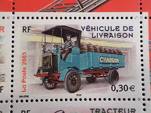 FRANCE-2003-timbre-3614-VOITURES-VEHICULE-DE-LIVRAISON-neuf-CARS-VF-MNH