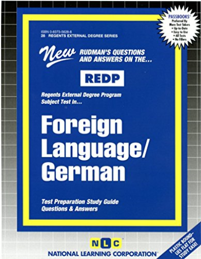 National Learning Corporation-Foreign Language/German BOOK NEW