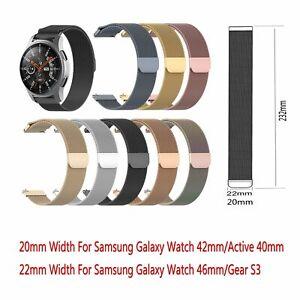 Edelstahl-Magnetisches-Uhrenarmband-Ersatz-Fuer-Samsung-Galaxy-Watch-42MM-46MM