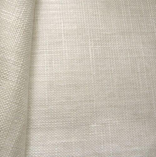 Antik Weiß 28 Anzahl Cashel Leinen 50 X 140 cm Zweigart Stoff