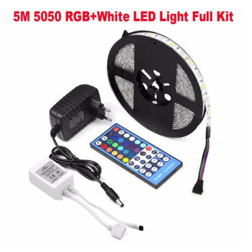 Fernbedienung 5M 10M RGB//RGBW//RGBWW 5050 SMD LED Streifen Strip Netzteil Set