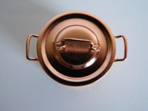 KP24 escala 1//12th Casa de Muñecas Metal Color cobre Jam Pan
