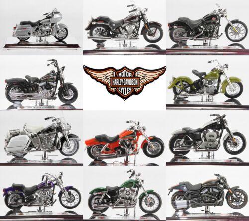 Échelle 1:18 harley davidson moto sélection #1 par maisto choisir modèle (s)