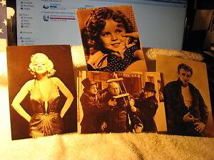 Marilyn Monroe, James Dean, 3 Stooges, Shirley Temple
