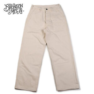Bronson-40s-USN-Deck-Pants-Vintage-Men-039-s-HBT-Fatigue-Uniform-Trouser-High-Rise