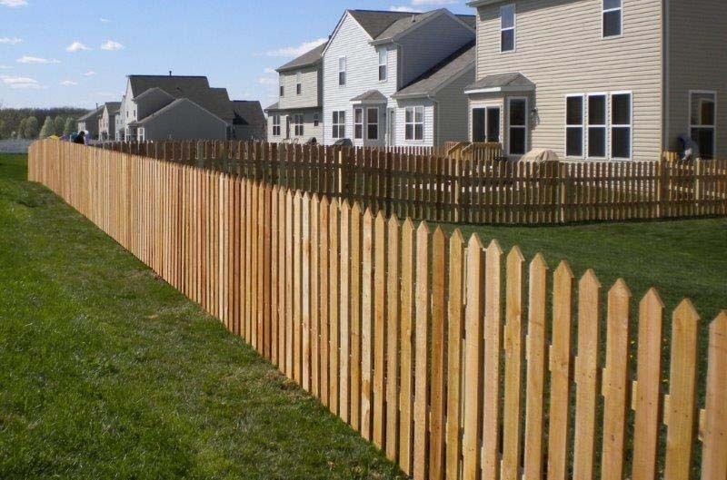 Picket Fence Pales Pointed Pales Round Top Picket Fence