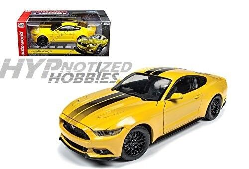 Auto Mundo 1 18 2016 Ford Mustang Gt Die-Cast yellow Aw229