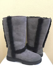 2850a81dbcf UGG Australia Classic Tall Diamond Quilted Black Leather Boot US 8 ...