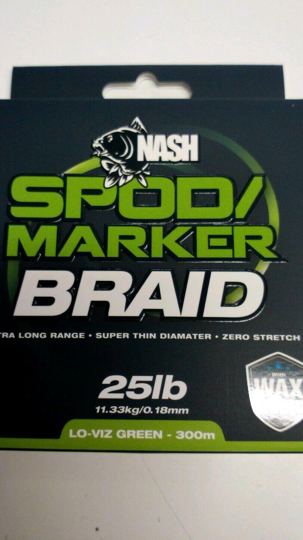 NASH LO-VIZ GREEN 300M SPOD MARKER BRAID
