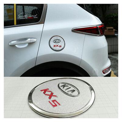 Cuque Fuel Gas Oil Tank Cap Cover ABS Engine Oil Filler Cap Trim for Kia Sportage KX5 QL 2015 2016 2017 2018