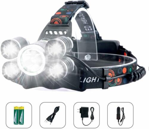 Arzopa Flashlight Front Rechargeable LED High Power Helmet Carp Cycling Hunt